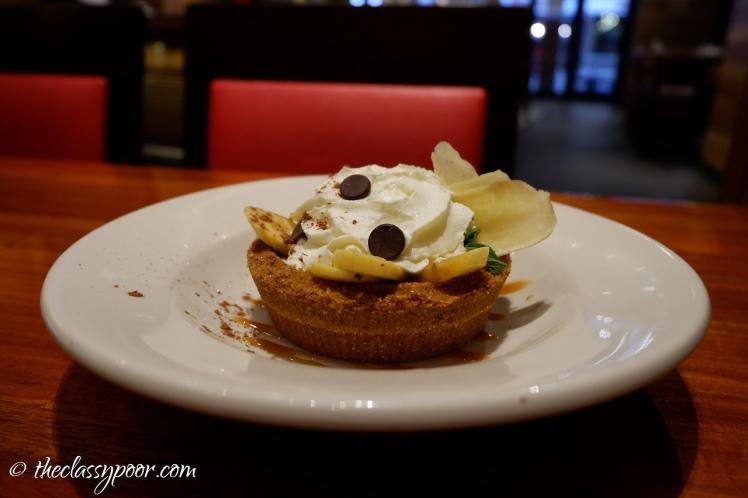 TGIF's version of banoffee pie.