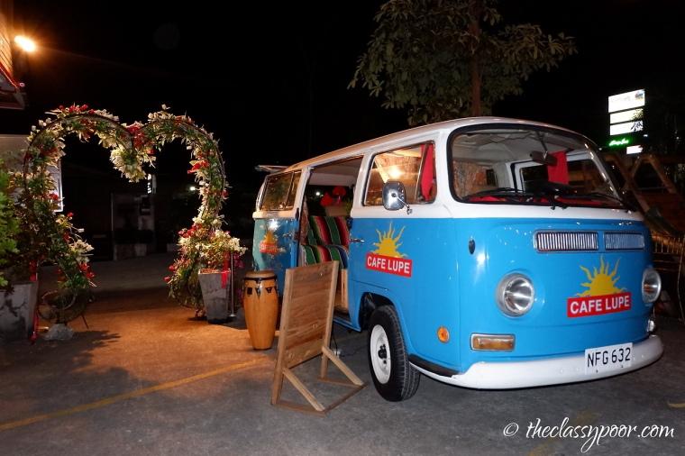 Cutesy restored van.