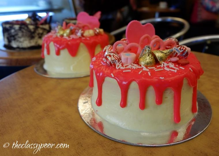Valentine's Themed Drip Cake